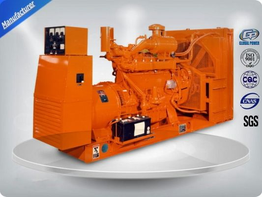 Çin Brushless 3 Phase Gas Generator Set 4 Lines High Efficiency With Electric Starting Distribütör