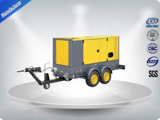 Çin 50 Hz Water - Cooling Silent Genset Trailer 16 Cylinder Prime Power 1480Kw Distribütör