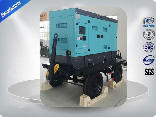 Water Cooled 50kw / 62.5kva Portable Diesel Generator With Cold Sheet Silent Canopy